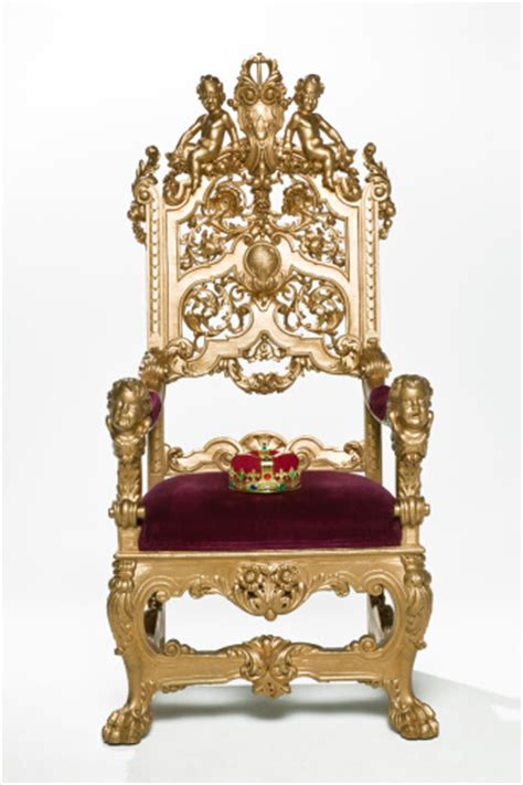 Kings crown sitting on throne stock photo getty images
