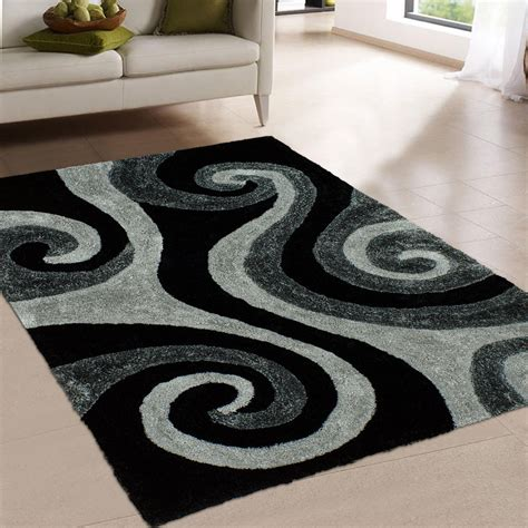 Black And Area Rug by Allstar Rugs Tufted Black Area Rug Wayfair Ca
