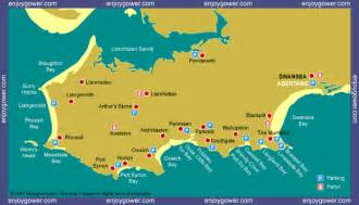 map of beaches in us enjoygower the essential guide to swansea bay mumbles