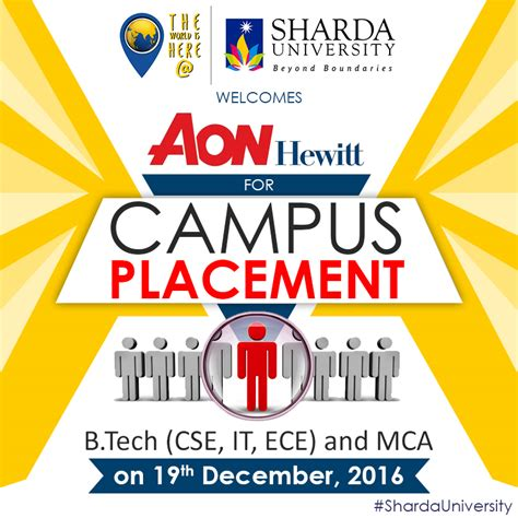 Sharda Mba Placement by Recruitment Drive Of Aon Hewitt On 19th Dec 2016 For B