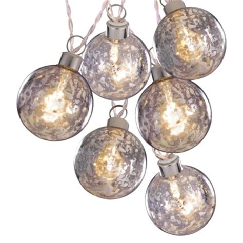 philips globe string lights philips 6ct clear battery operated silver glass ball