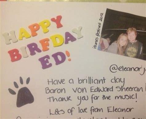 Ed Sheeran Birthday Card Eleanorjackson Ed Sheeran S 22nd Birthday Card Capital
