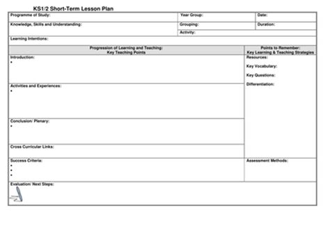 Ks1 2 Lesson Plan Template By Noaddedsugar Uk Teaching Resources Tes Docs Lesson Plan Template 2