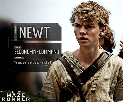 maze runner film company the death cure on twitter quot newt is a bloody good glader