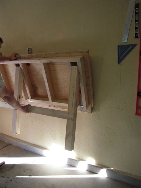 fold down work table for garage fold down work bench for my garage work shop imgur