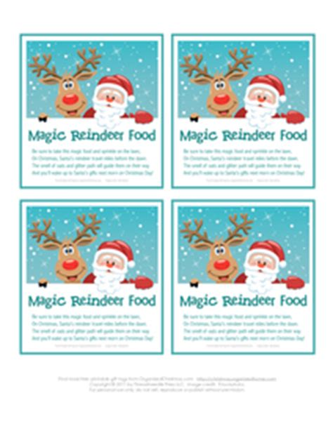 printable reindeer chow gift tag magic reindeer food printable stocking stuffer