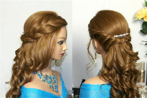 romantic hairstyles for long straight hair romantic prom hairstyle for long hair романтическая