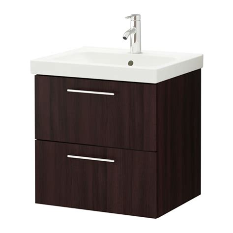 ikea bathroom sink cabinets godmorgon odensvik sink cabinet with 2 drawers black