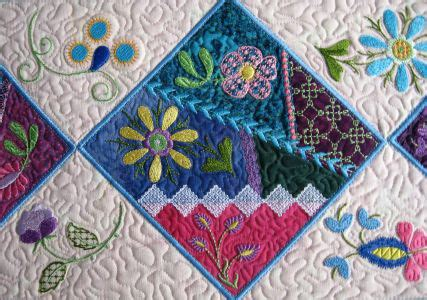 Patchwork Embroidery - embroidery on patchwork 187 arbee designs