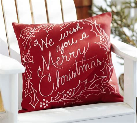 we wish you a merry christmas indoor outdoor pillow