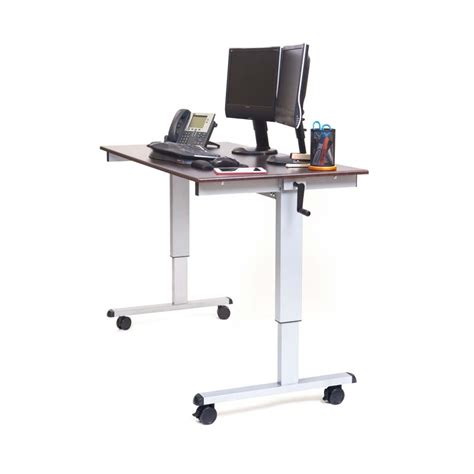 adjustable height stand up desk luxor wide adjustable height stand up desk