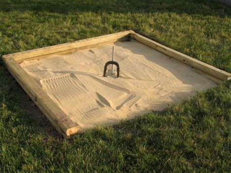 how to build a horseshoe pit in your backyard diy backyard horseshoe pit
