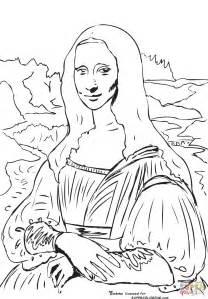 mona coloring page dibujo de mona la gioconda de leonardo da vinci