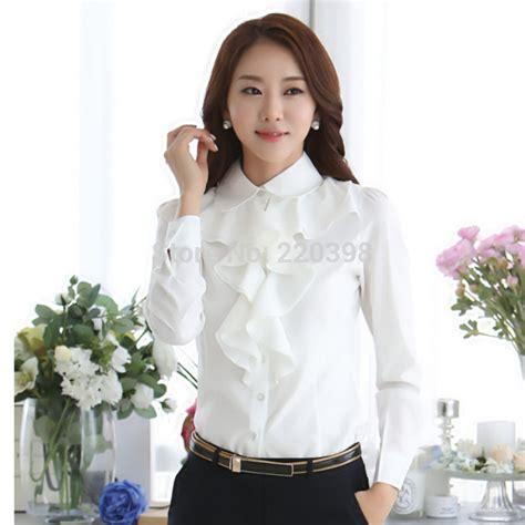 Sale Style Blouse Import aliexpress buy 2015 new arrival chiffon sleeve shirt korean style fashion ruffles