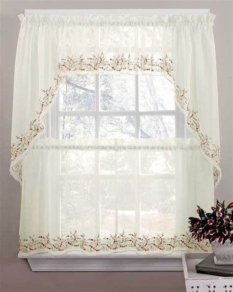 Kitchen Curtain Valances 1000 Images About Sheer Kitchen Curtains On Kitchen Swag And Gingham