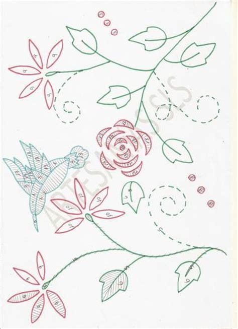 Hem Batik Flores dise 241 o para bordado mexicano colibr 237 y flores si