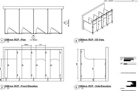 cubicles toilet dwg block autocad designs cad