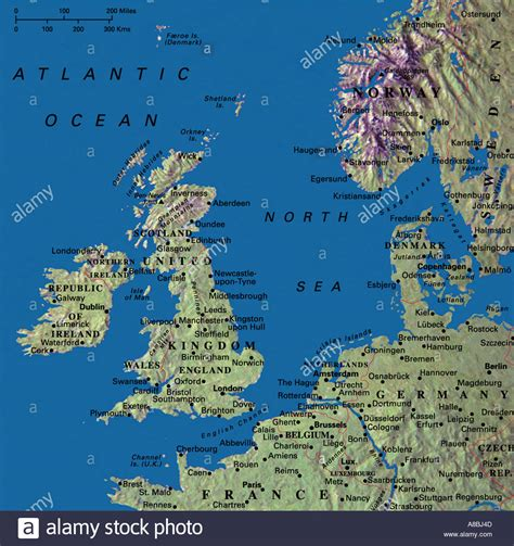 map netherlands and denmark map maps united kingdom ireland denmark
