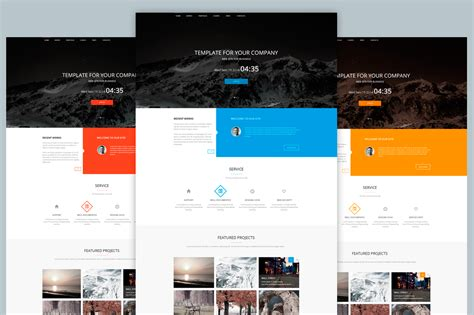 Agency Template Web Psd Website Templates On Creative Market Web Agency Template
