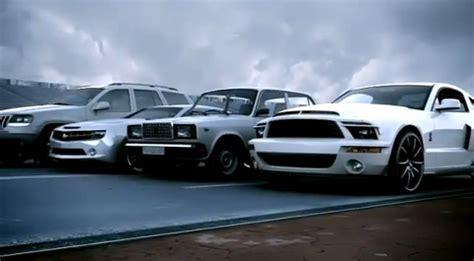 camaro vs jeep amazing cgi of ford shelby vs camaro vs jeep vs vaz