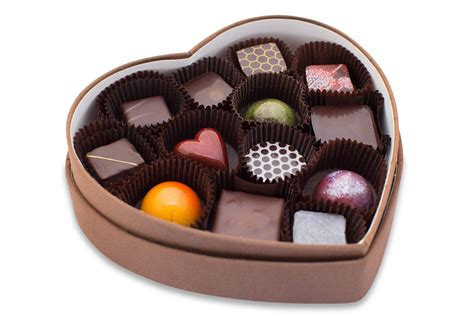 Handcrafted Chocolates - shaped box of chocolates thin