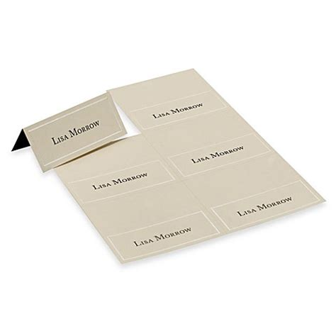 www gartnerstudios place cards template gartner studios ivory pearl placecards set of 4 www