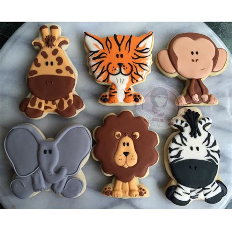 jungle animal cookies gallery