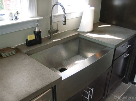 custom taupe concrete countertop contemporary kitchen