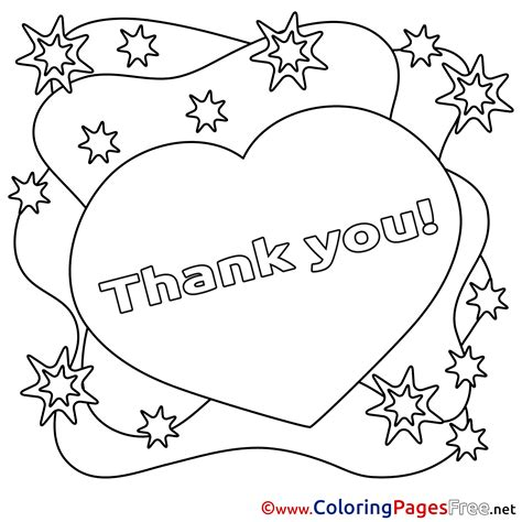 thank you coloring page printable printable thank you cards kids can