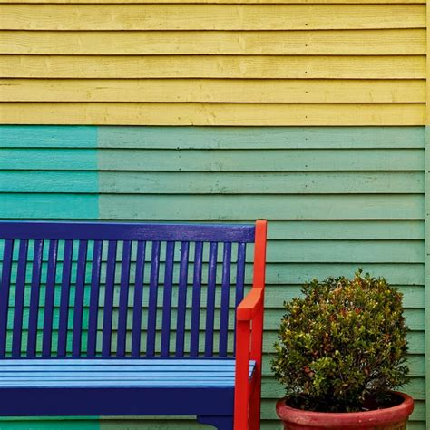 garden fence and furniture with colourful paint finishes garden fence ideas housetohome co uk