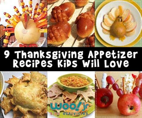 kid appetizers for thanksgiving appetizers for