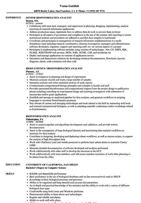 bioinformatics template data analyst san diego federal template best resume