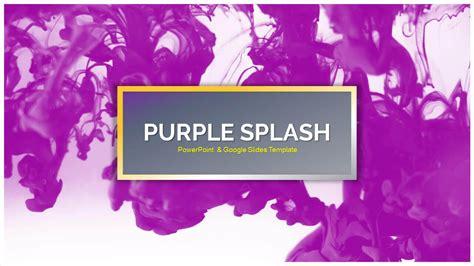 google slides templates for teachers purple splash free powerpoint templates google slides
