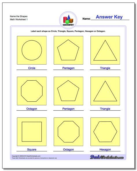 basic shapes worksheets basic geometry