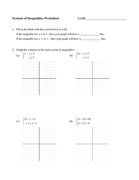 Graphing Systems Of Linear Inequalities Worksheet by 10 Best Images Of Graphing Systems Of Equations Worksheet