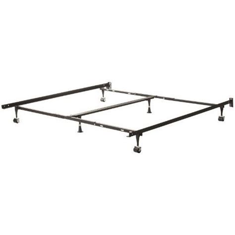 Heavy Duty Bed Frame Heavy Duty 6 Leg Metal Bed Frame Adjust To Fit King Fastfurnishings