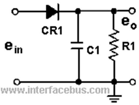 diode peak detector dictionary of electronic and engineering terms peak detector circuit