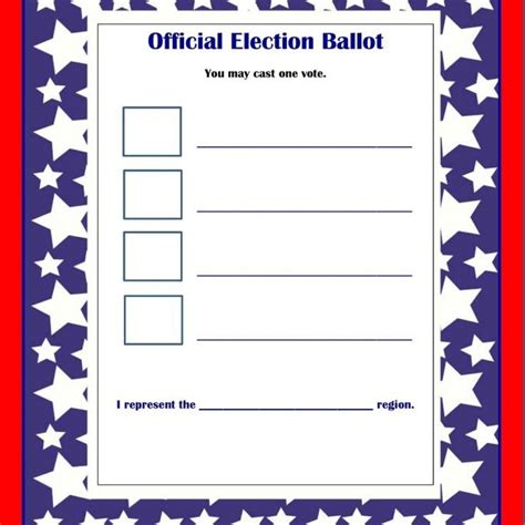 word ballot template images templates design ideas