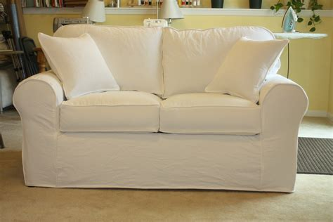 white denim sofa loveseat twill slipcover studio