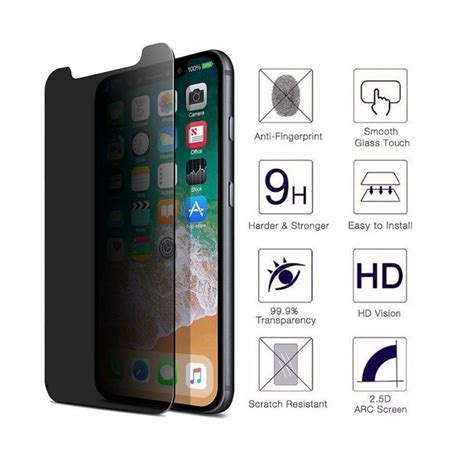 high grade privacy screen protector for apple iphone xr 6 1 inches anti tempered glass