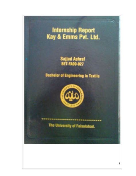 Black Book Project For Mba by Internship Report