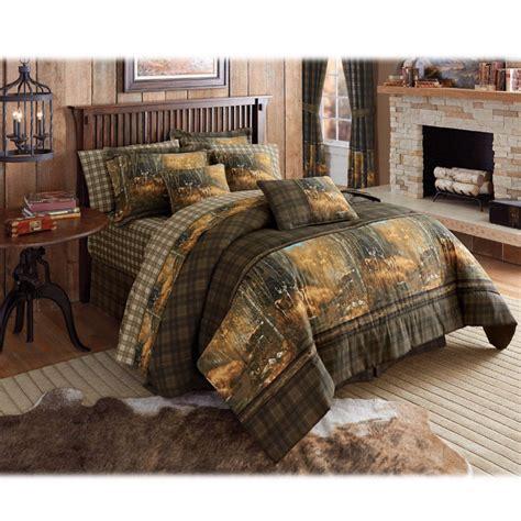 garden ridge comforter sets whitetail birch deer comforter set or bed in bag w sheets
