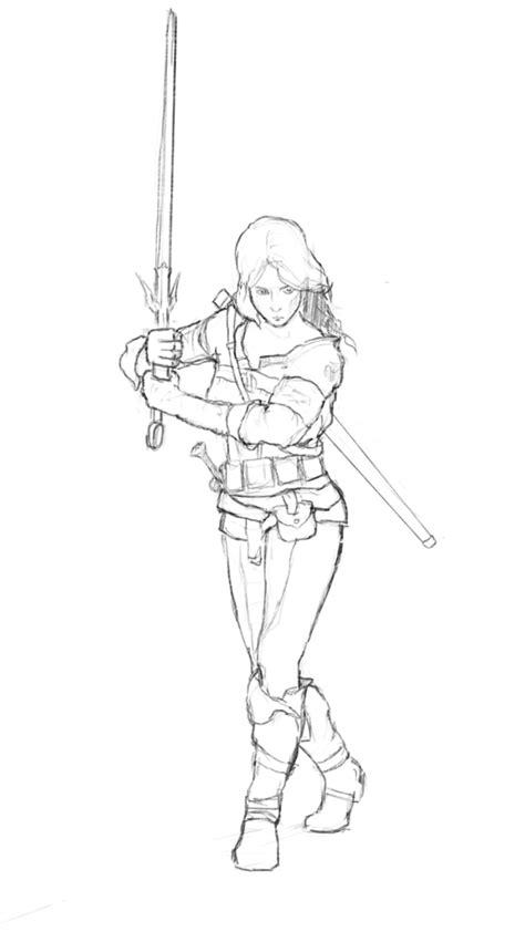 Witcher 3 Sketches by Lineart Ciri By Patrykrozwora On Deviantart