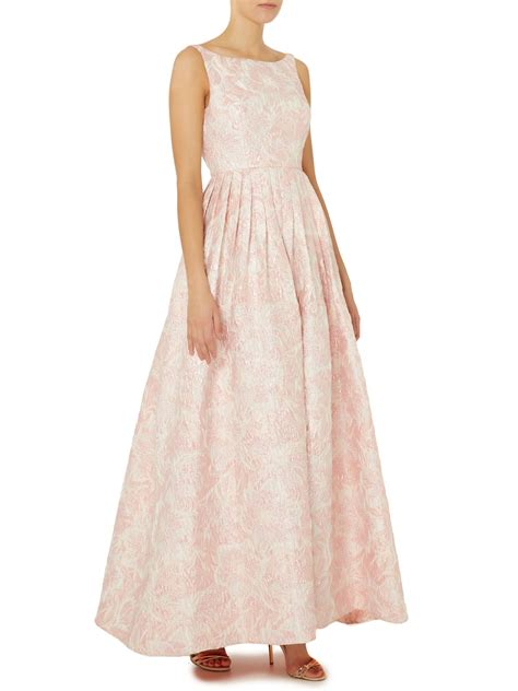 lyst papell floral fit and flare jacquard maxi