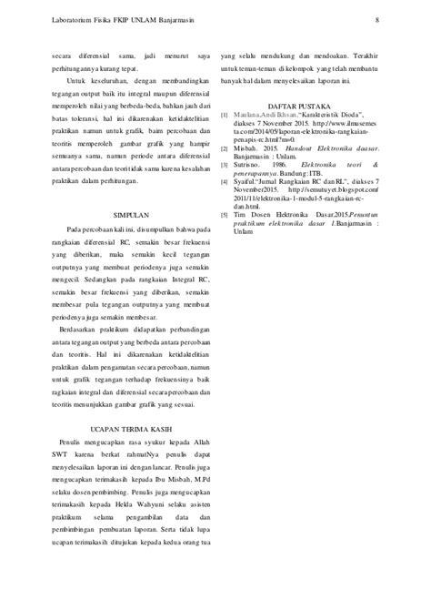 Diferensial Dan Integral Untuk Ilmu Ekonomi rangkaian integral diferensial rc