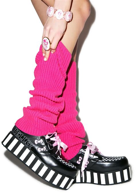 Tas Tenteng Hello Pink Bow t u k pink ribbon hello bow creepers dolls kill