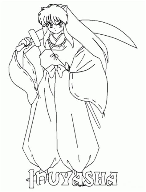 14 Coloring Pages Of Inuyasha Print Color Craft Inuyasha Coloring Pages