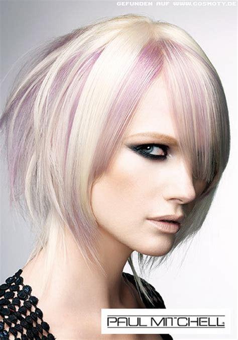 platinum bob with pastel highlights blonde haare mit lila str 228 hnen