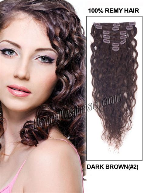 18 inch wavy hair extensions 18 inch 145g 2 brown deluxe clip in hair