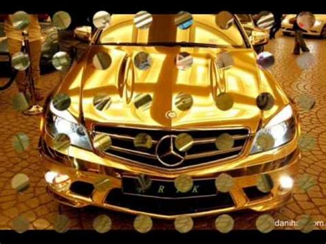 golden fast cars mercedes gold car